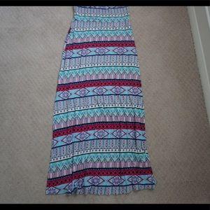 multi color maxi skirt